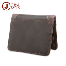 Men Crazy Horse Leather Decent Wallet Slim Money Clip Two Bill Compartment - $16.62