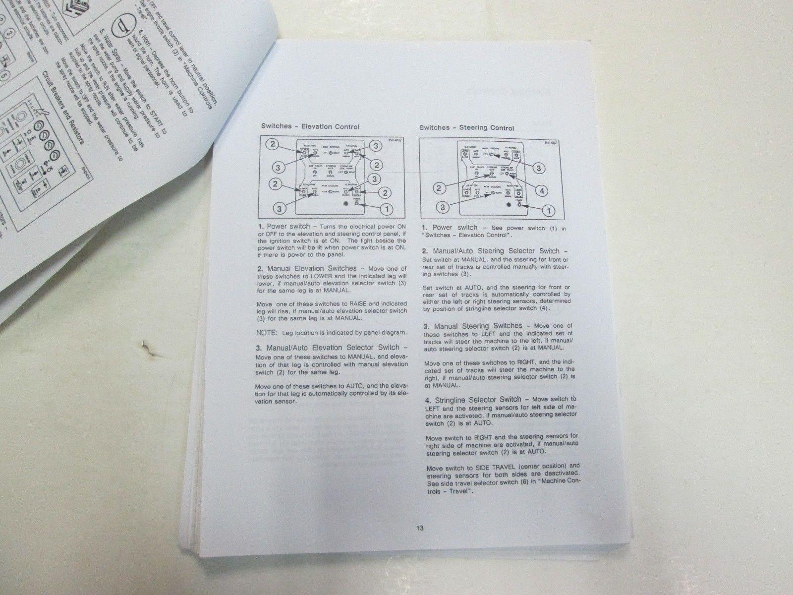 1990 CMI SF-350 Four Track Slipform Paver Operation & Maintenance Manual STAINS