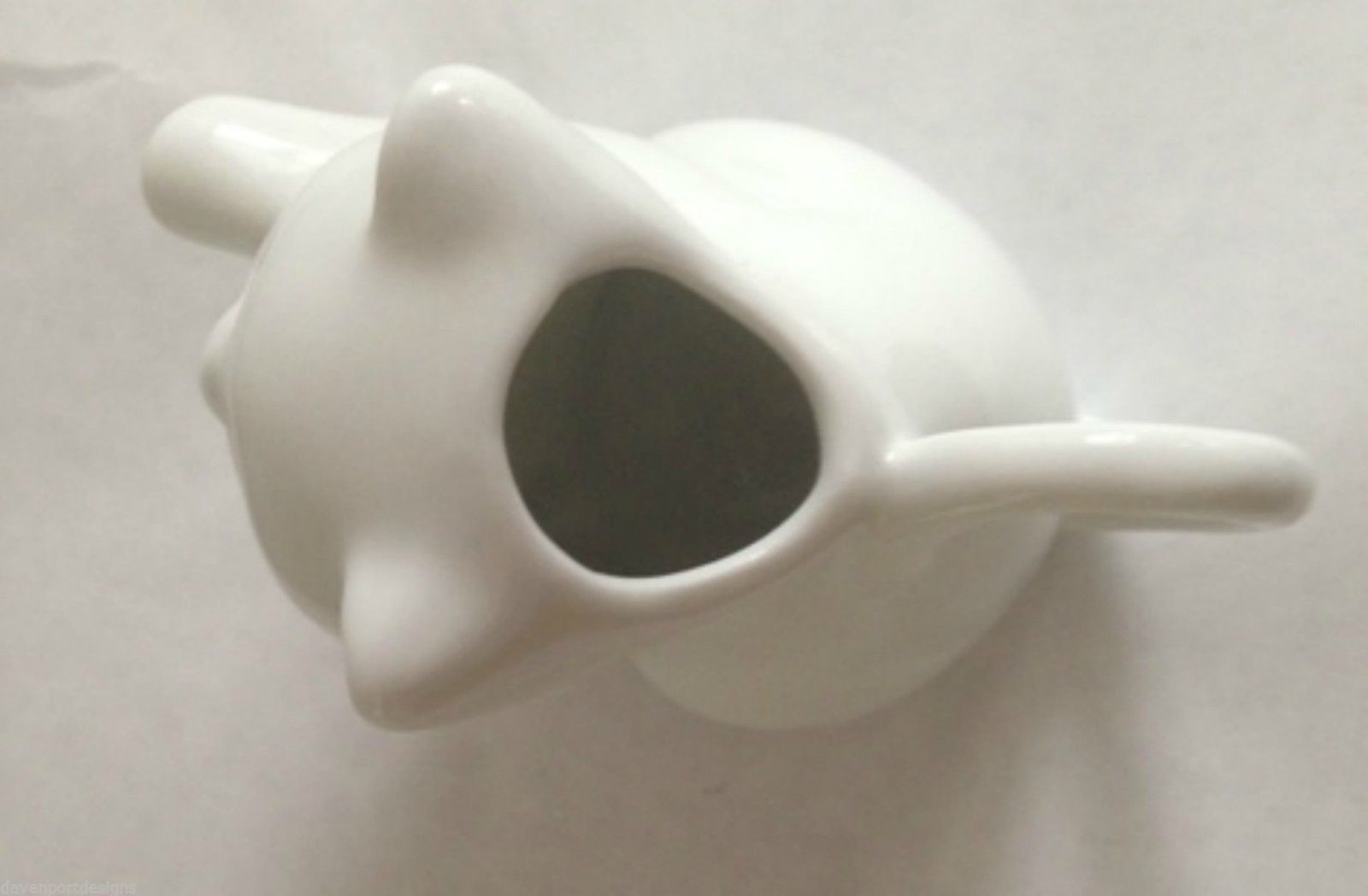"Cat Coffee Creamer White Ceramic Two's Company 3"" Tall Kitty Lover Christmas Pet"