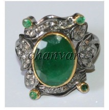 Vintage Look Artisan Rose Cut Diamond 925 Sterling Silver Ring CJUK608 - $3.624,24 MXN