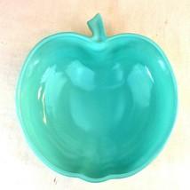 "1940s HAZEL ATLAS Depression Glass Platonite Apple Salad Bowl Blue Large 11"" USA - $29.69"