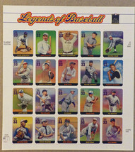 United States - Legends of Baseball - 20 Unused stamps, MNH sheet - 33 cent - $7.43