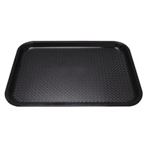 Kristallon Plastic Fast Food Tray Black Large Commercial Canteen School - $23.86