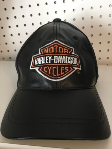 59b40a1047c46 Genuine Harley Davidson 100% Leather Hat Cap and 50 similar items. 12