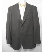Burberry London 40 Long Brown Black 2-Button Sport Coat Suit Jacket - $53.41