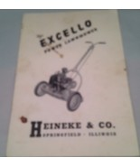 Manual for the Excello Power Lawnmower Heineke & Co, Springfield, Illinois - $9.75