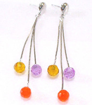 White Gold Plated X'mas Birthday Classic Red Swarovski Element Crystal earrings - $14.11