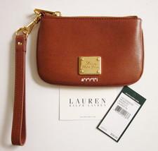 Ralph Lauren Leather Newbury Wristlet Coin Pouch Tan NWT  - $40.00