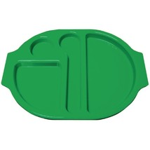 10X Kristallon Plastic Food Compartment Tray Small Green Commercial Canteen - $107.48
