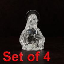 4pc Jesus LED Light Up Figurine Home Holiday Decorations Night Light Par... - $16.82