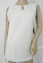 Nwt  Women's Karen Scott Sport  Knit Top Shirt Sleeveless Sz L Large Ivo... - $11.83