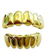Gold Tone Hip Hop Teeth Grillz Top & Bottom Gri... - $9.39