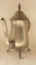 "Decorative Ornate Silverplated Tea Pot 9 1/2"" Tall - $28.04"