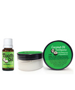 Coconut Oil Toothpaste and Tooth Oil Kit for Natural Teeth and Gum Care - $12.28
