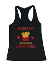 Women's Workout Tanks Workout Fitness Gym shirts Unisex - Extra Fries - $14.99+