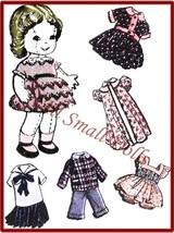 "Vintage Pattern for 9"" Cloth doll w/Wardrobe no.1 - $5.99"
