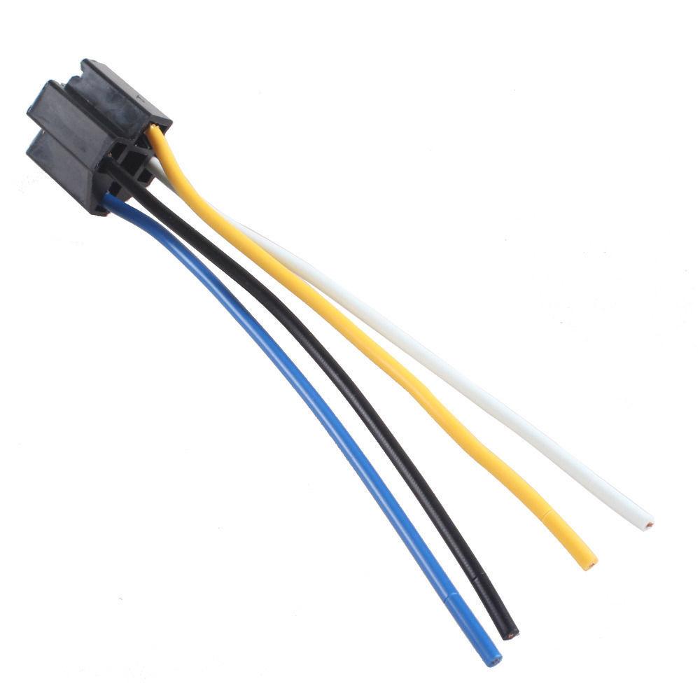 car 12v 12 volt dc 40a amp relay harness socket 4pin 4