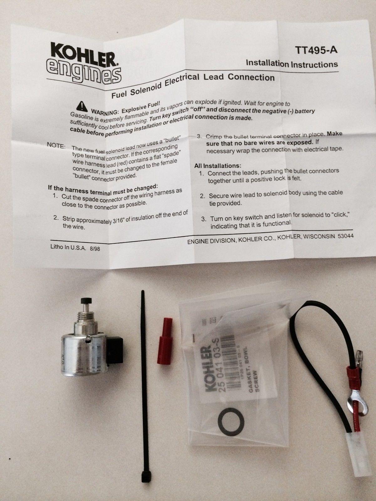 Kohler OEM Solenoid Kit S CV CH And 50 Similar Items