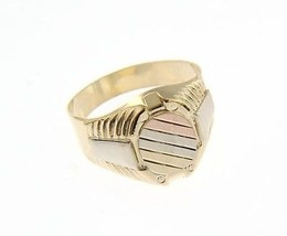 18K YELLOW WHITE ROSE GOLD BAND MAN RING OVAL SATIN LUMINOUS MADE IN ITALY