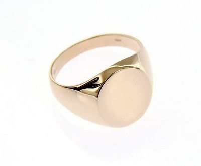 18K ROSE PINK GOLD BAND MAN RING ROUND ENGRAVABLE BRIGHT SMOOTH MADE IN ITALY