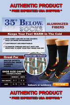 NEW 35 Below Socks 1 pair Black Size LARGE As Seen on TV FREE SHIP - USA... - $13.92
