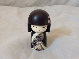 Chikako Insightful Kimmi Mini Dolls black Hair and Gold Plum Designs Asian Style
