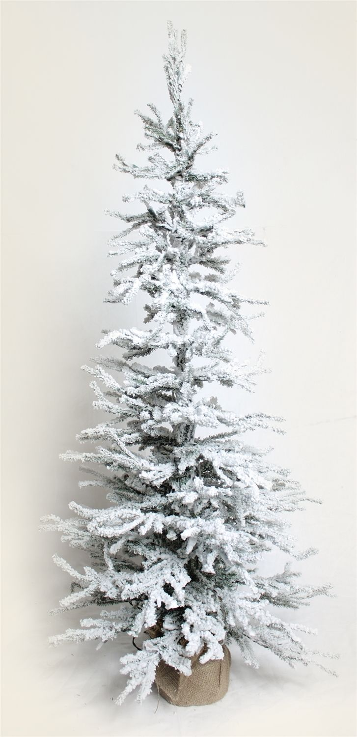 New 48 Inches Frosted Christmas Tree with 100 Lights Synthetic, Flexible