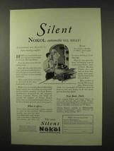 1926 Silent Nokol Heater Ad - Oil Heat - $14.99