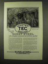 1926 TEC Master Brand Sheet Steel Ad - Uniform Quality - $14.99