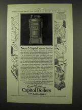 1927 Capitol Boilers and Radiators Ad - Round Boiler - $14.99