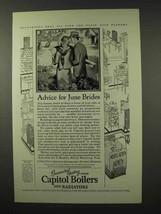 1927 Capitol Boilers and Radiators Ad - June Brides - $14.99