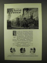 1927 Cyclone Fence Ad - Property Protection Pays - $14.99