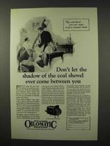 1926 Williams Oil-o-Matic Heating Ad - The Coal Shovel - $14.99