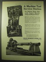 1922 Niles-Bement-Pond Machine Tools Ad - Service - $14.99
