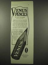 1922 Venus Pencil Ad - Largest Selling Quality Pencil - $14.99