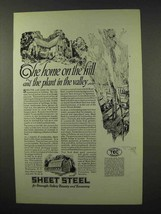1927 TEC Sheet Steel Ad - The Home On The Hill - $14.99