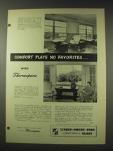 1948 Libbey Owens Ford Thermopane Glass Ad - No Favorites - $14.99