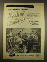 1949 7-Up Soda Ad - Fresh-Up with Seven-Up - $14.99