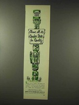 1948 Quaker State Oil Ad - Above All for Quality - $14.99