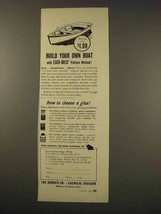 1949 Borden Co. Chemical Division Cascophen Glue Ad - Build Boat - $14.99