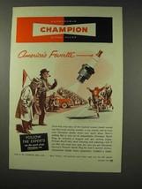 1949 Champion Spark Plugs Ad - America's - $14.99