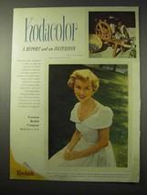 1950 Kodak Kodacolor Film Ad - Report and Invitation - $14.99