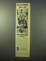 1951 Harley Davidson 125 Motorcycle Ad - Your Pal - $14.99