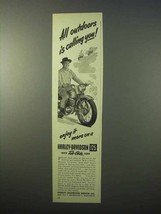 1951 Harley Davidson 125 Motorcycle Ad - All Outdoors - $14.99
