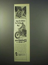 1951 Harley Davidson 125 Motorcycle Ad - Thrilling Way - $14.99