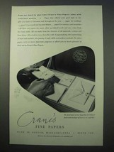 1952 Crane's Fine Papers Ad - Craftsman Quality - $14.99