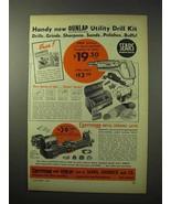 1950 Craftsman Metal Turning Lathe, Dunlap Drill Ad - $14.99