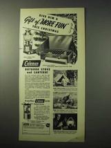 1950 Coleman Outdoor Stove, Lantern Ad - More Fun - $14.99