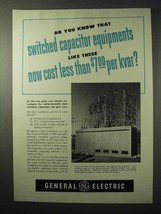 1950 General Electric Switched Capacitor Equipments Ad - $14.99