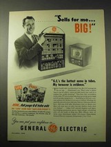 1950 General Electric Tubes Ad - Sells For Me Big! - $14.99